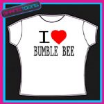 I LOVE HEART BUMBLE BEE TSHIRT